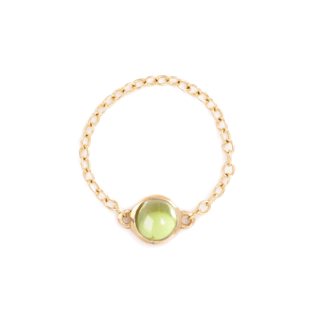 Peridot Pop Chain ring
