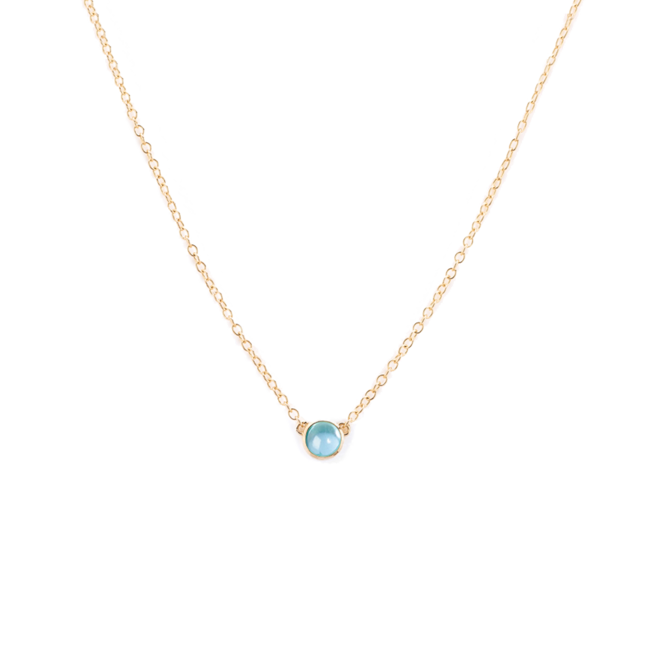 Blue Topaz Pop Necklace