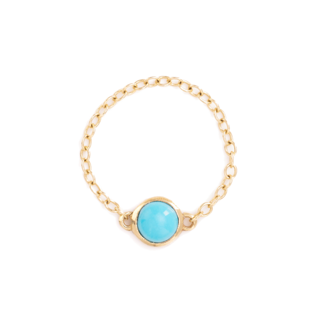 Turquoise Pop Chain ring