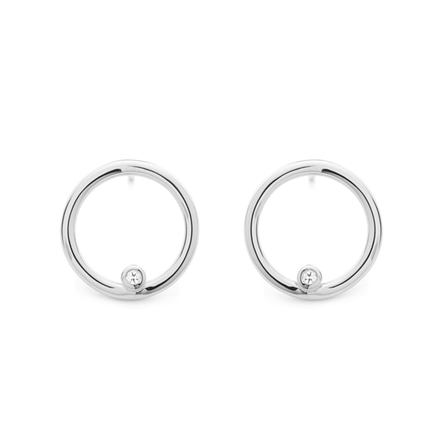 Grace Orbit Earrings Silver
