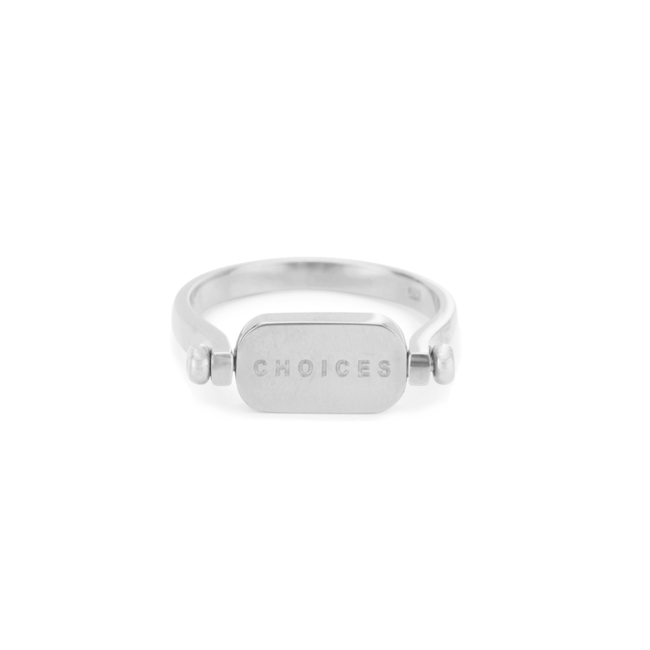 Choices flip ring Silver
