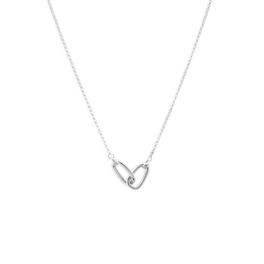 Links necklace silver