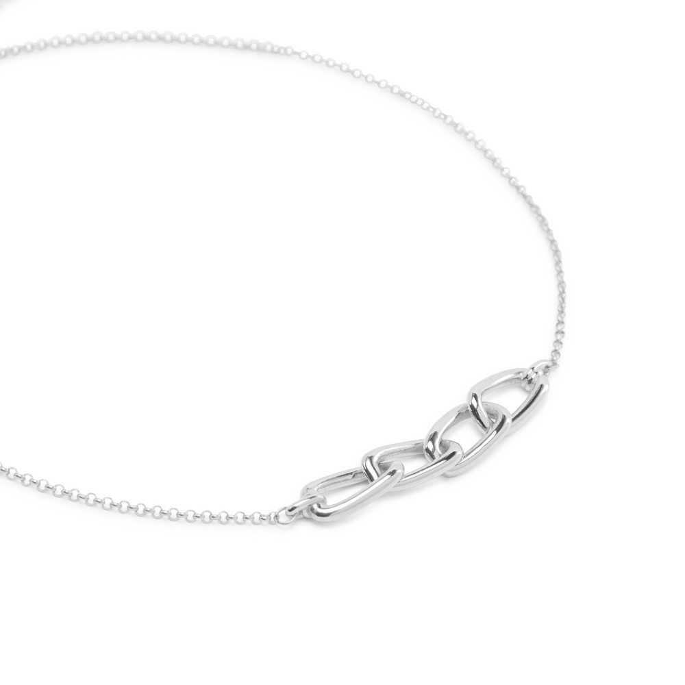 Links thread choker silver