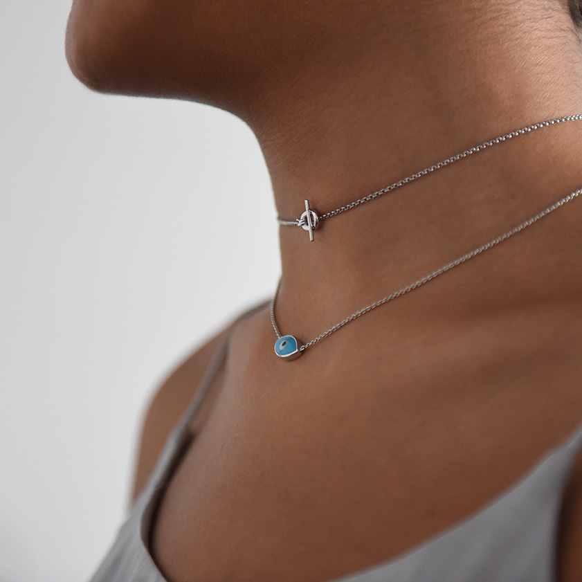 Links front choker silver