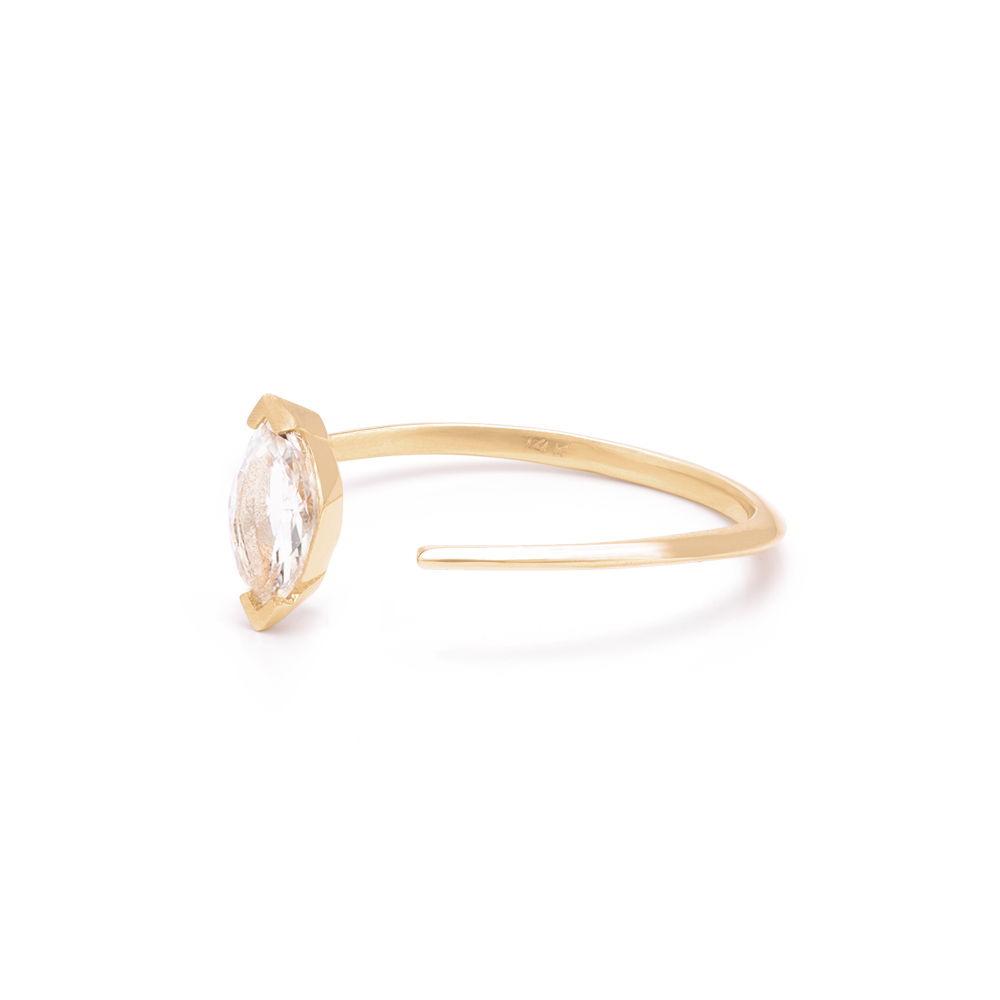 Blaze Ring White Topaz