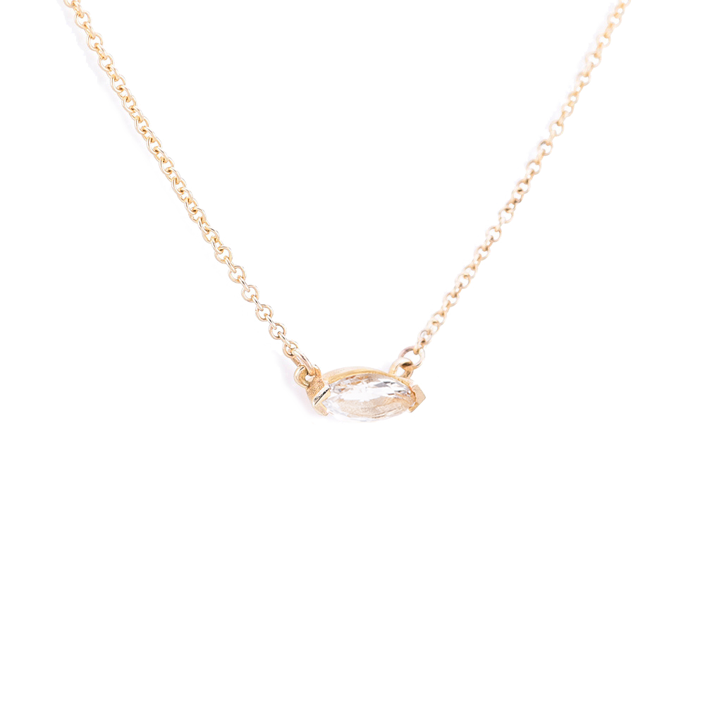Blaze necklace White Topaz