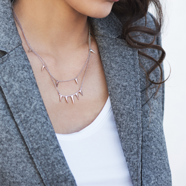 BE WILD SPIKES NECKLACE SILVER