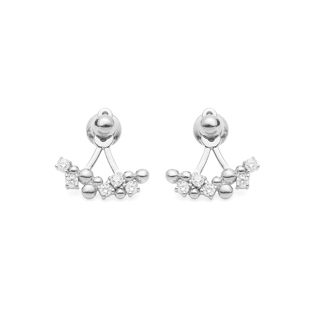 Bubbled Up Ear Jackets Silver