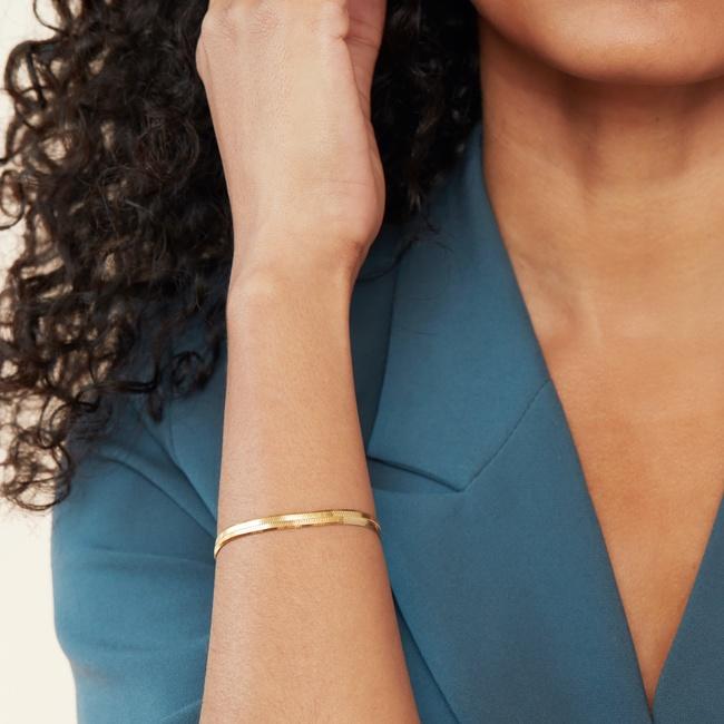 Bold Herringbone Chain Bracelet
