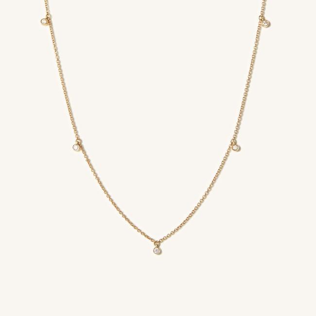 Diamonds Station Necklace