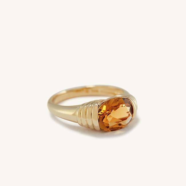 Heirloom Ring Honey Quartz
