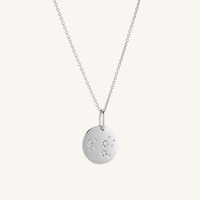 Zodiac Necklace Leo Silver