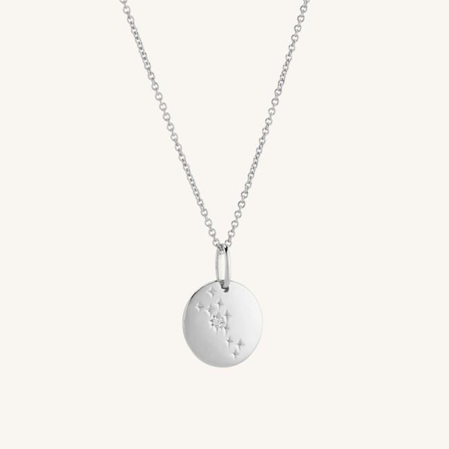 Zodiac Necklace Taurus Silver