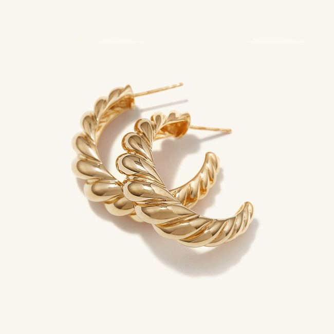 Large Croissant Dome Hoops