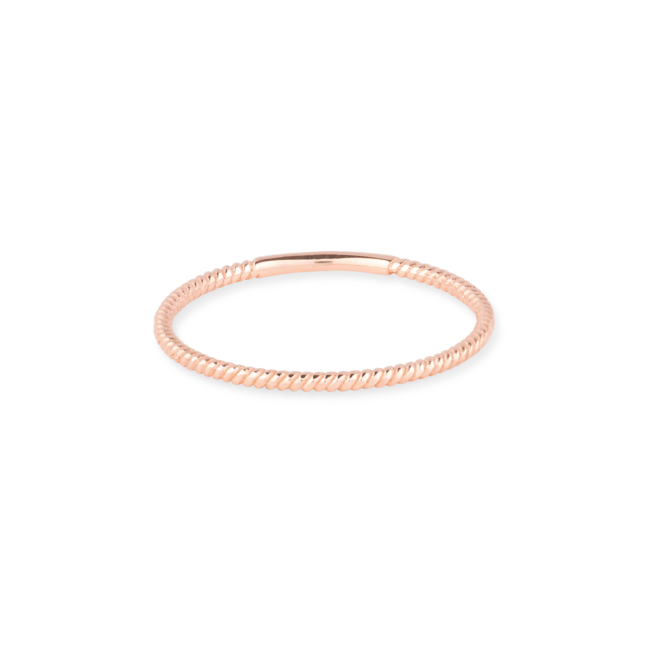 Twist Ring Rose Gold