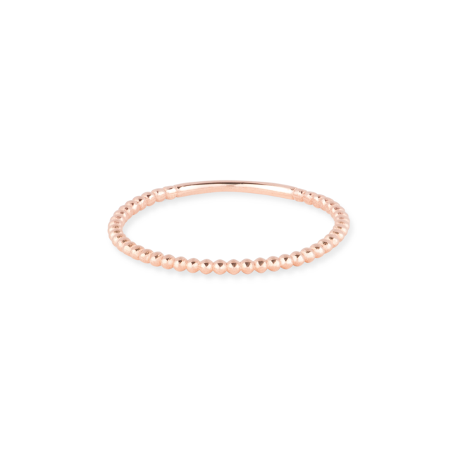 Beaded Ring Rose Gold