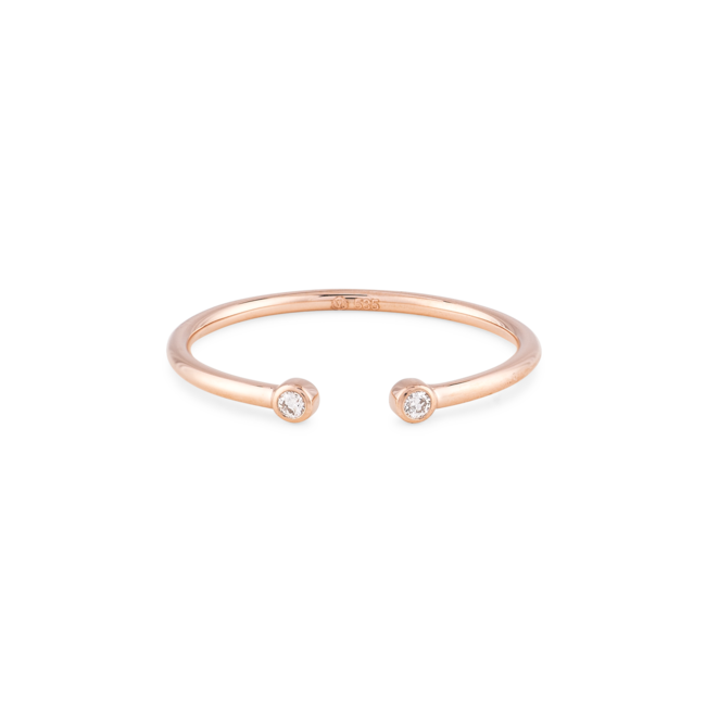Diamonds Open Ring Rose Gold