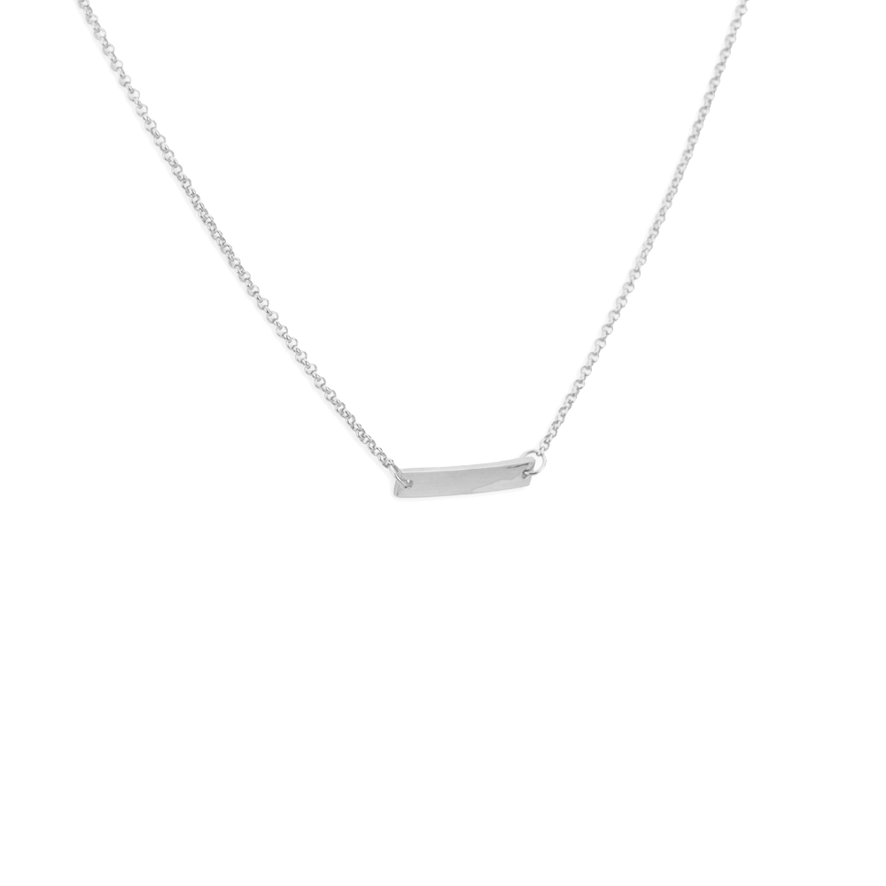 One bar choker silver