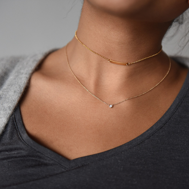 One bar choker