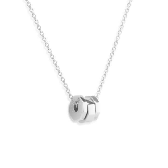 Edged Necklace Silver