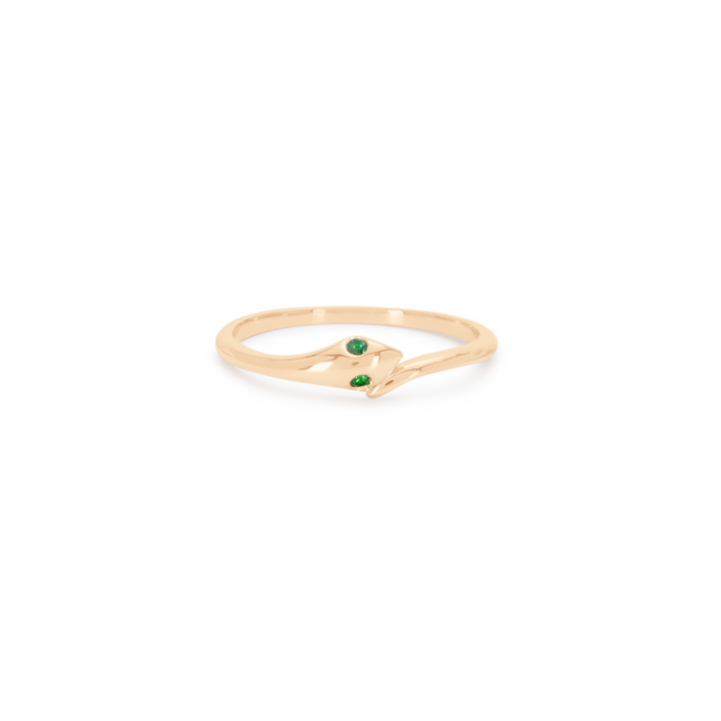 Snake Pinky Ring green
