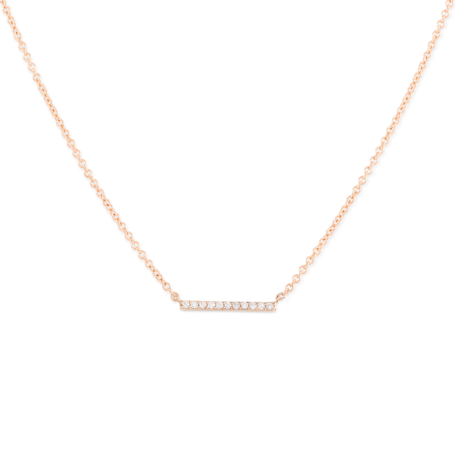 Diamonds Line Necklace Rose Gold