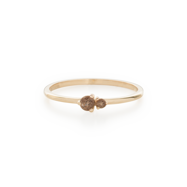 Hue Ring Smokey Quartz