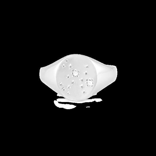Zodiac Ring Sagittarius Silver