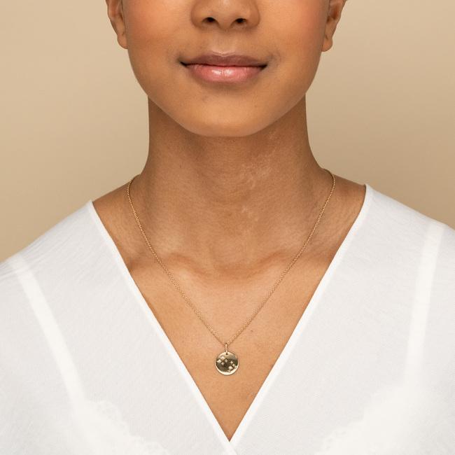 Zodiac Necklace Cancer Vermeil
