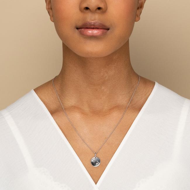 Zodiac Necklace Aquarius Silver