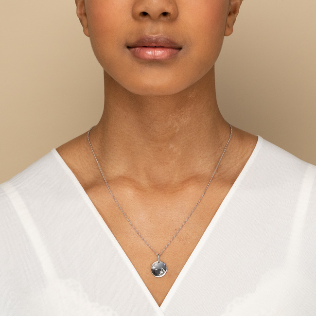Zodiac Necklace Capricorn Silver