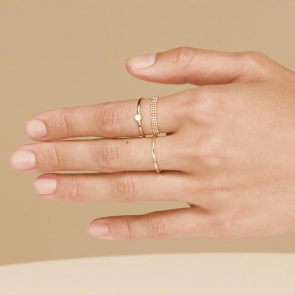 Triple Beaded Chain Ring Mejuri